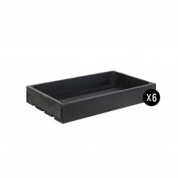 Pack 6 cajas color negro pizarra pequeñas