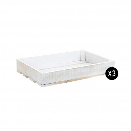 Pack 3 cajas blancas pequeñas