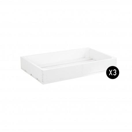 Pack 3 cajas pequeñas color blanco