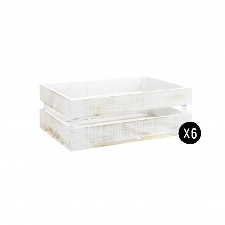 Pack 6 cajas medianas decapadas