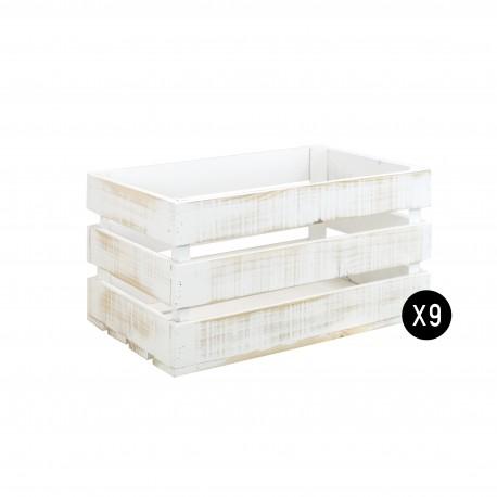 Pack 9 cajas grandes decapadas