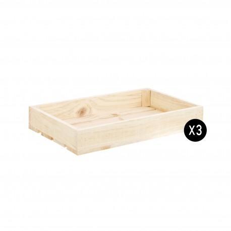 Pack 3 cajas natural pequeñas