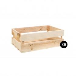 Pack 6 cajas medianas naturales