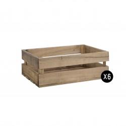 Pack 6 cajas medianas envejecidas