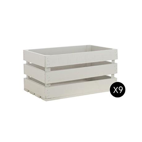 Pack 9 cajas grandes color crema