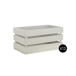 Pack 12 cajas grandes color gris claro