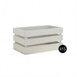 Pack 15 cajas grandes color gris claro