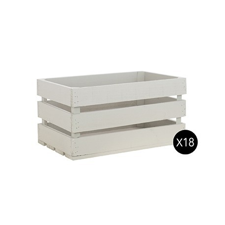 Pack 18 cajas grandes color gris claro