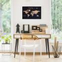 Corcho mapa del mundo fondo negro