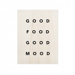 Cuadro de madera Good Food