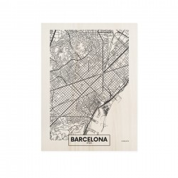 Cuadro de madera Barcelona