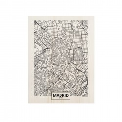 Cuadro de madera Madrid