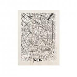 Cuadro de madera Milan