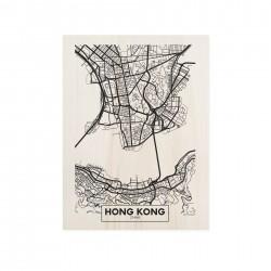 Cuadro de madera Hong Kong