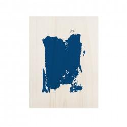 Cuadro de madera Blue Faces
