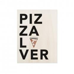 Cuadro de madera Pizza Lover
