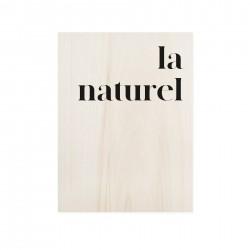 Cuadro de madera La naturel