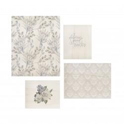 Conjunto de cuadros con motivos florales