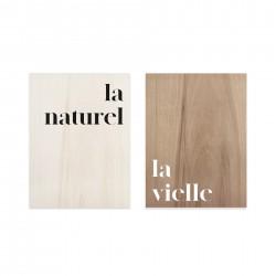 Conjunto de cuadros de madera Naturel & Vielle