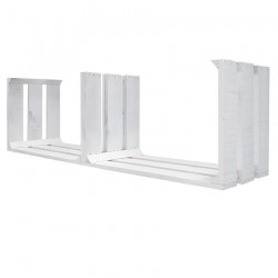 Estantería tres separadores pintada blanca