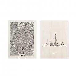 Conjunto de cuadros Paris