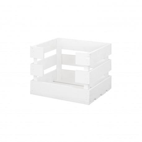 Caja con apertura pequeña pintado blanco