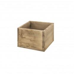 Caja cubo pequeño envejecido