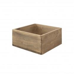 Caja cubo mediano envejecido