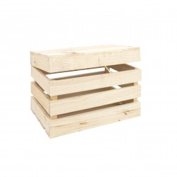 Baúl de madera natural