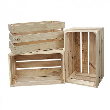 Pack 3 cajas grandes venta de todo tipo de cajas de madera online - Cajas de madera online ...